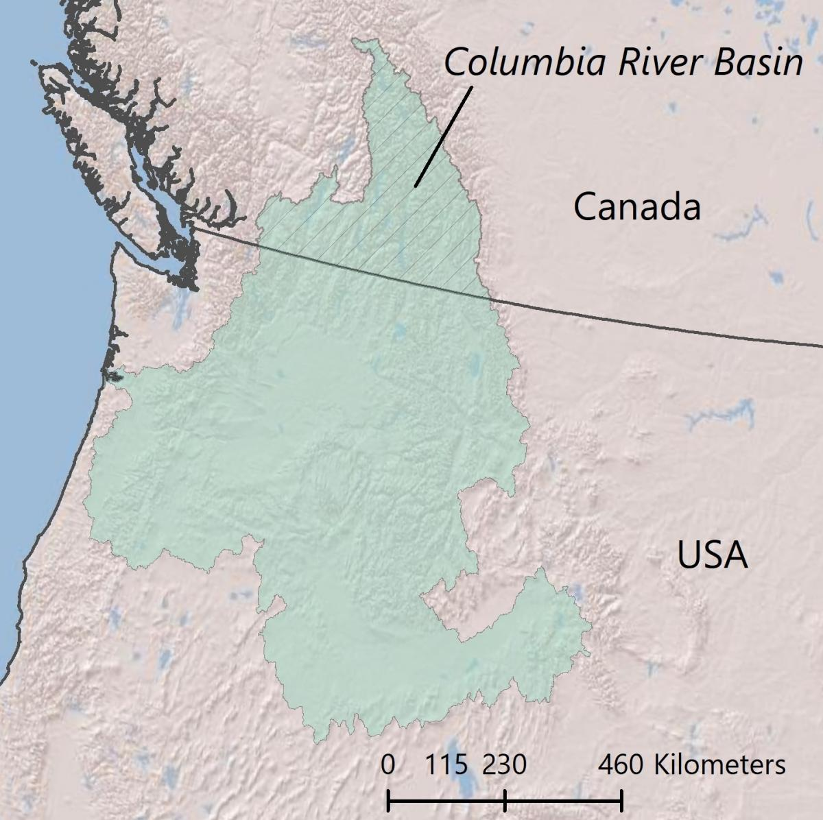 Columbia River Basin and its BCUs - basin country units