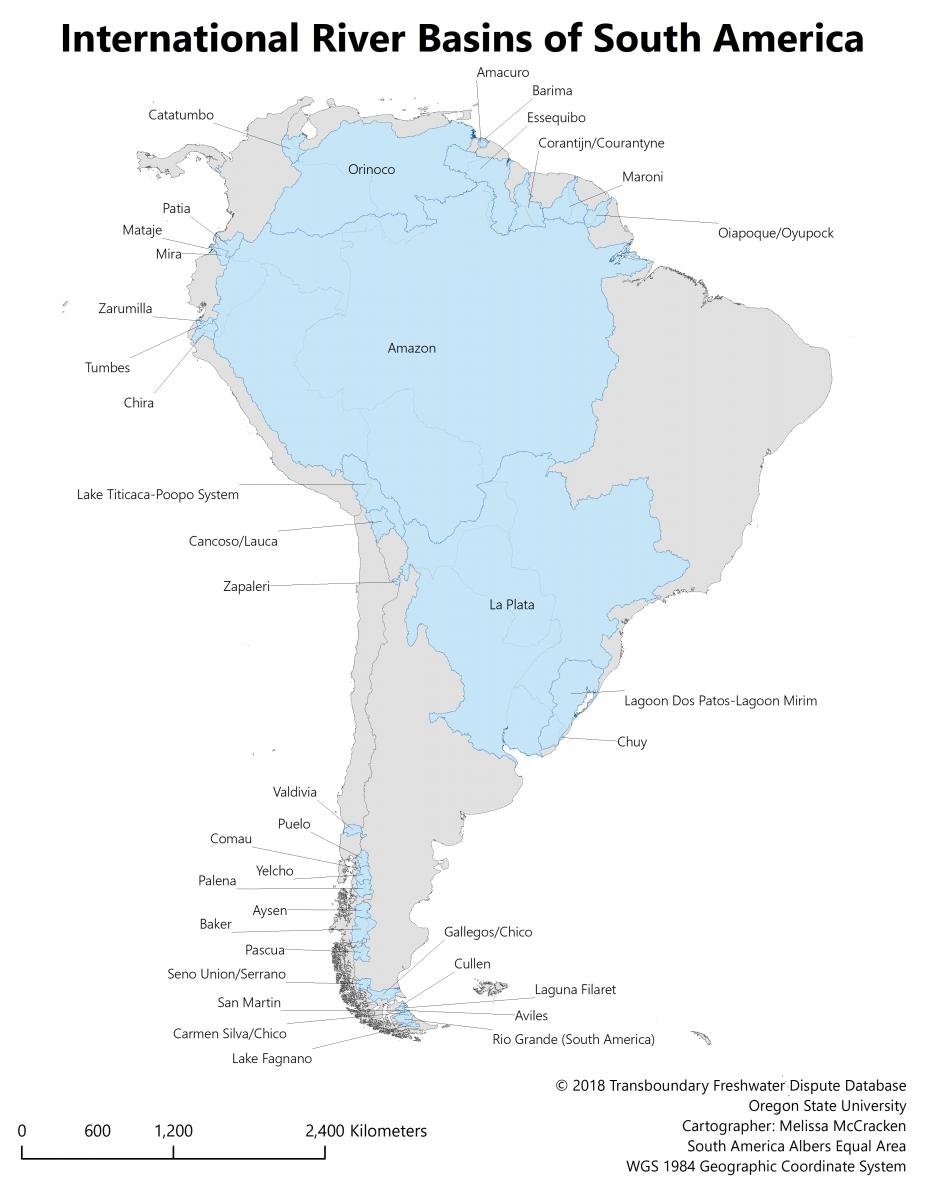 International River Basins of South America